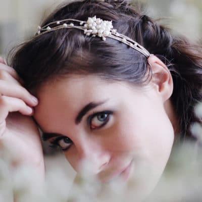 Bijoux de tête de cheveux avec perles accessoires pour mariée