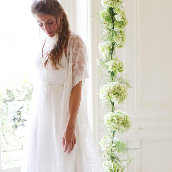 Kimono de mariée en dentelle French Love