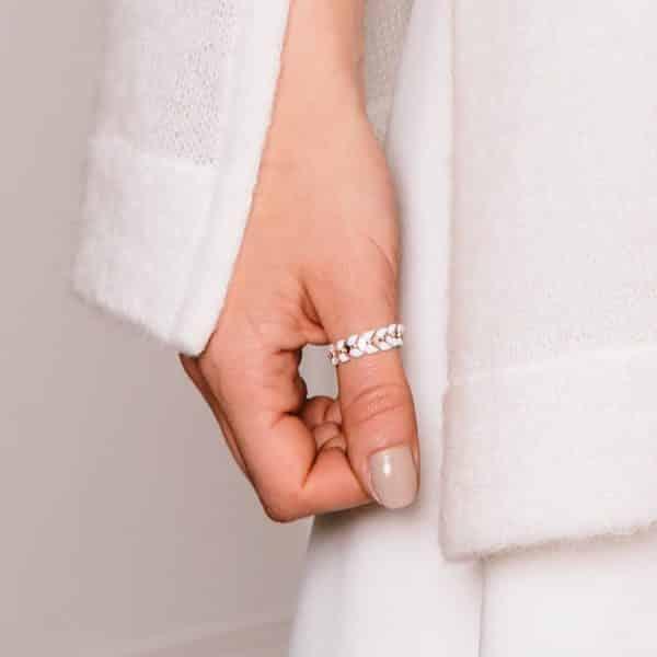 Bague de pouce argentée pour mariée