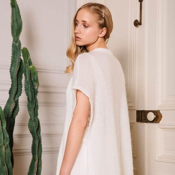 GASTON Gilet cape d'hiver pour robe de mariée