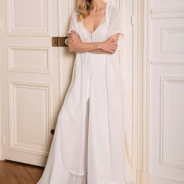Gilet long façon cape pour robe de mariée GASTON