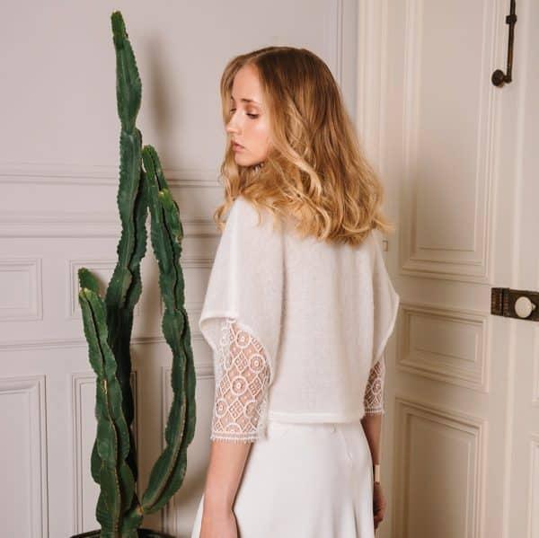 Gilet boléro pour robe de mariée hiver Greg