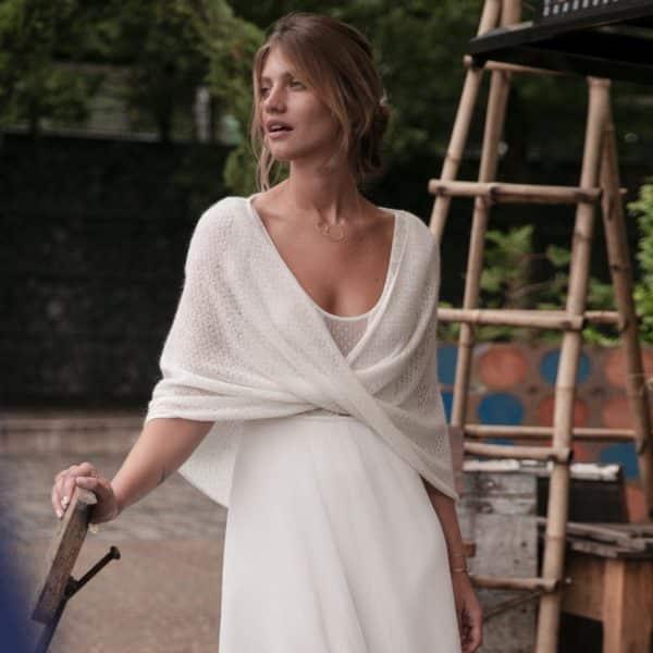 Etole pour robe de mariée Harold laine mohair