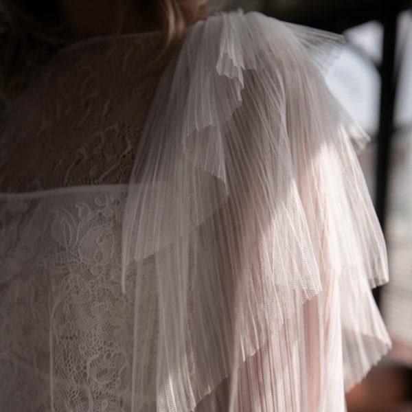 Blouse gilet à volants HAYDEN pour robe de mariée romantique