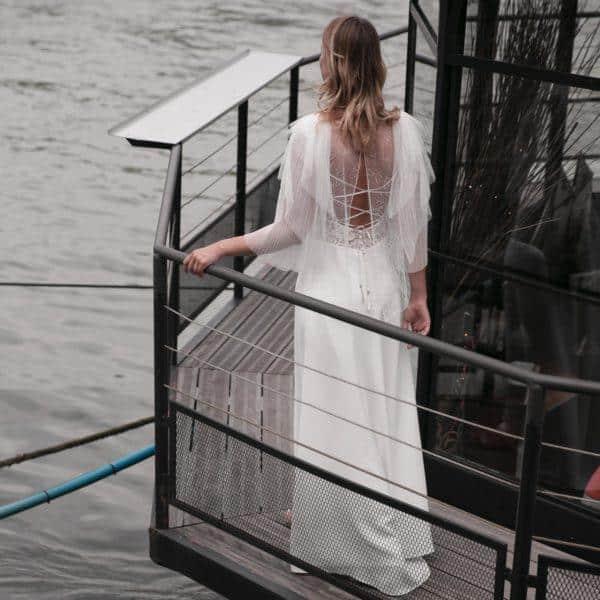 Blouse gilet pour robe de mariée HAYDEN en tulle