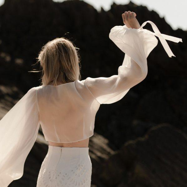 John Blouse manches longues pour robe de mariée