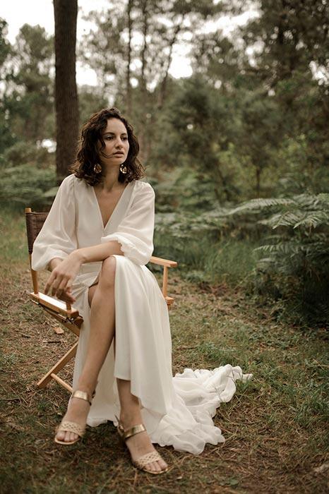 JE LE VEUX robe de mariee moderne manches longues – Amarildine