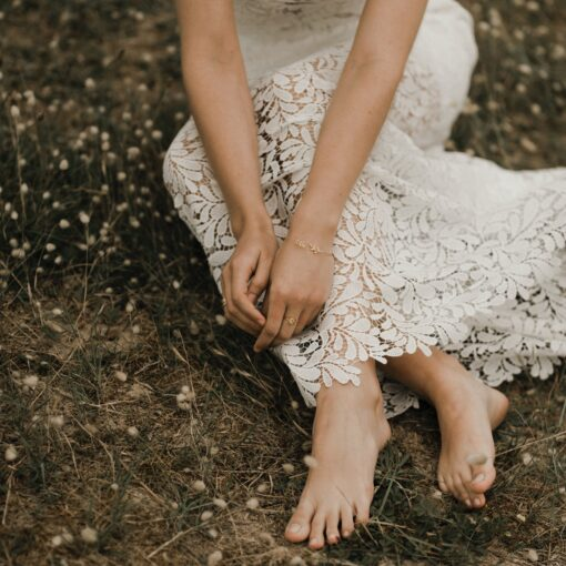 Jupe de mariée en guipure fleurie Just In Time