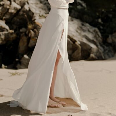 I DO Jupe fendue ensemble robe de mariée