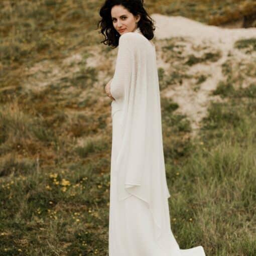 Poncho de mariage d'hiver accessoires pour mariée en laine et mohair