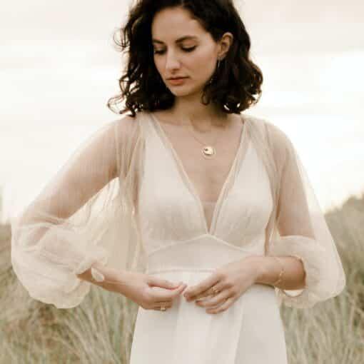 Blouse pour robe de mariée en dentelle dorée J'ADORE